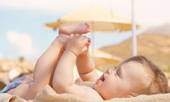 Protezione solare a misura di bambino